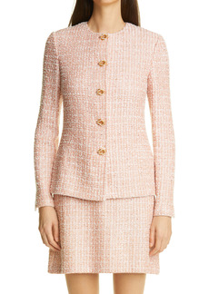 St. John Evening Metallic Tweed Jacket