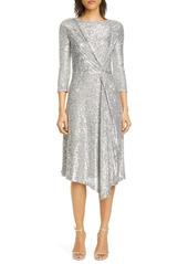 St. John Evening Starlight Sequin Mesh Dress