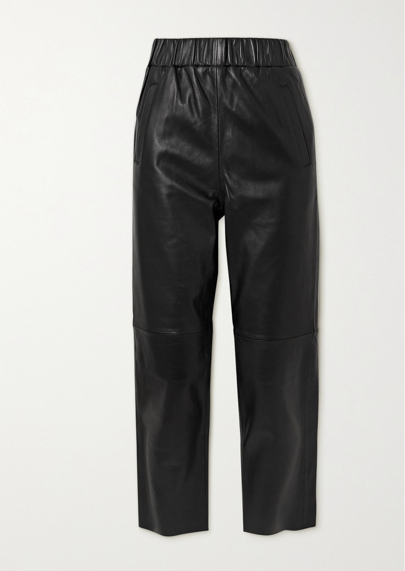 STAND STUDIO Noni Leather Track Pants