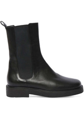 STAUD 35mm Palamino Leather Ankle Boots