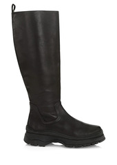 STAUD Bow Leather Tall Boots