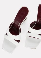 STAUD Bree Leather Wedge Slide Sandals