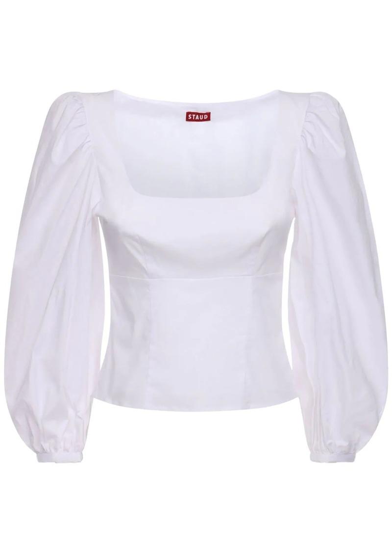 STAUD Cotton Blend Poplin Shirt