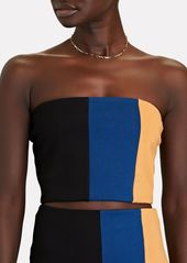 STAUD Dakota Colorblock Knit Bandeau Top