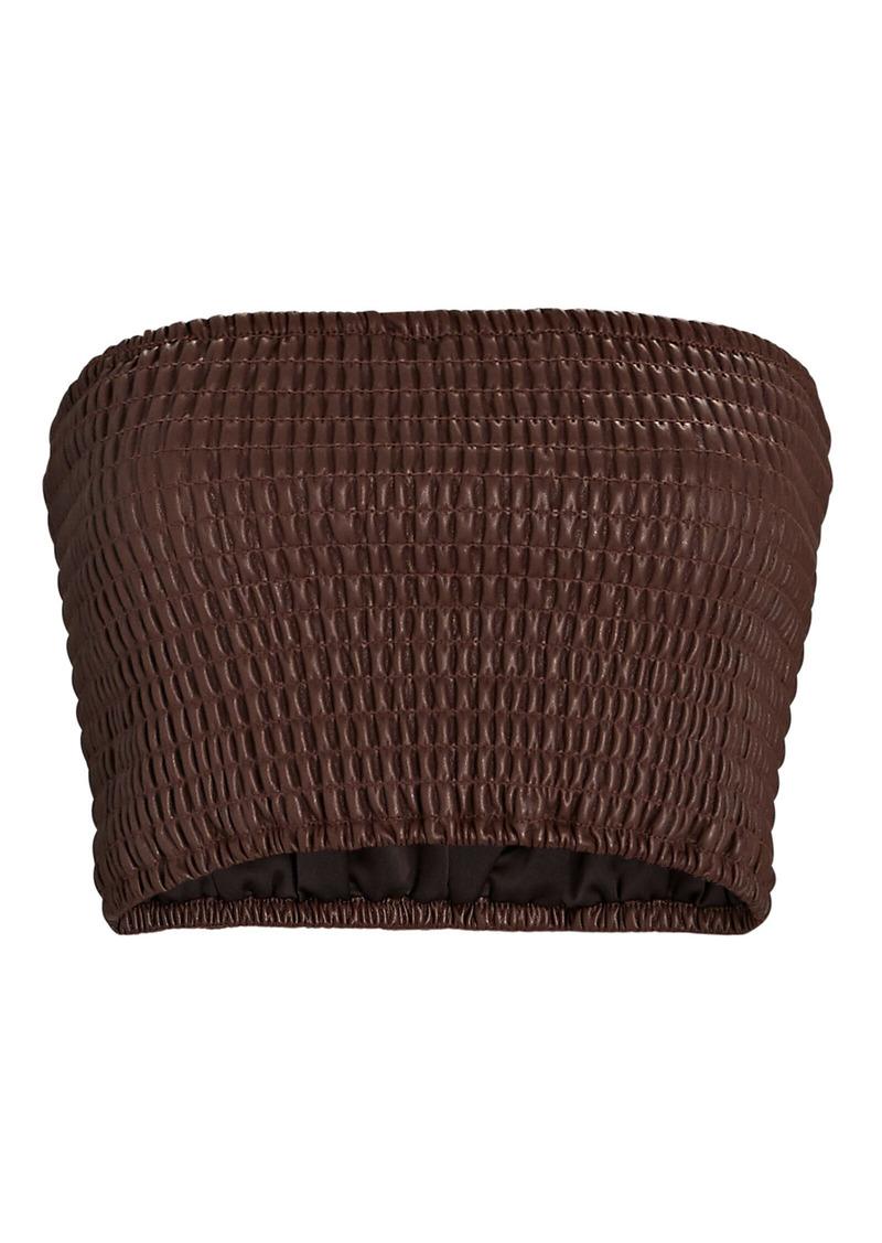 STAUD Davis Vegan Leather Bandeau Top