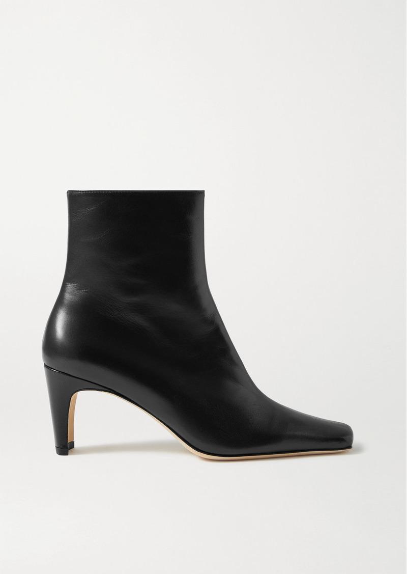 STAUD Eva Leather Ankle Boots