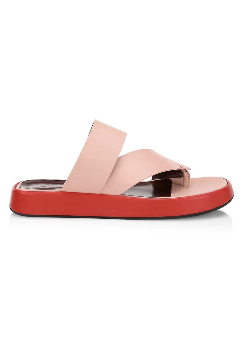 STAUD Fly Leather Flatform Slides