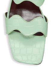STAUD Frankie Wavy Leather Mules