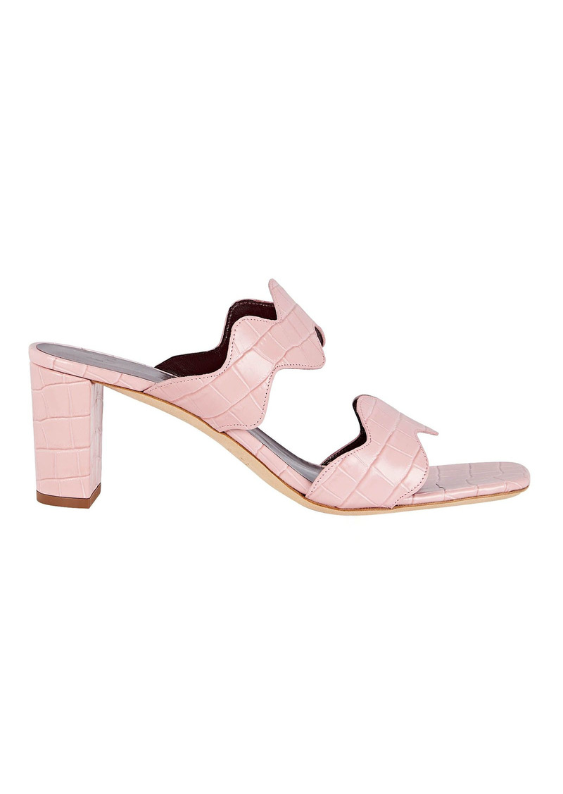 STAUD Frankie Leather Slide Sandals