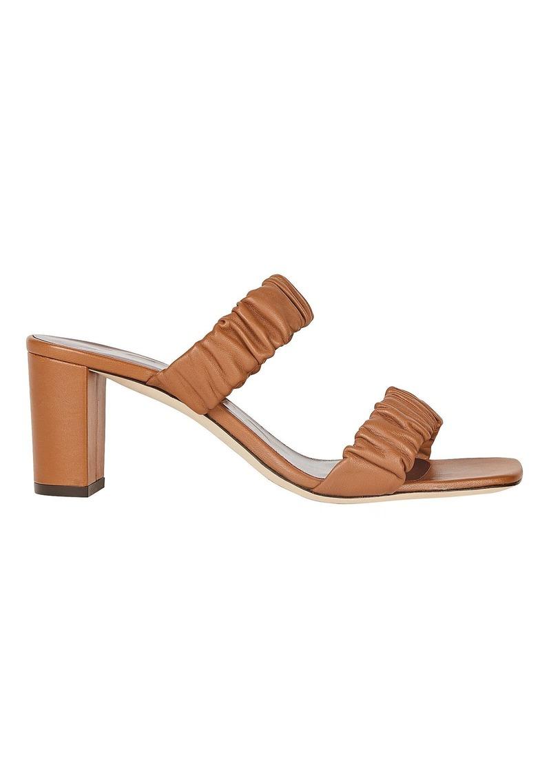STAUD Frankie Leather Slide Sandals