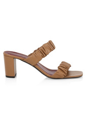 STAUD Frankie Ruched Leather Mules