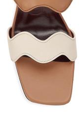 STAUD Frankie Wavy Colorblock Leather Mules