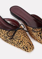 STAUD Gina Cheetah Printed Mule Flats