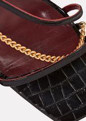STAUD Gita Chain Strappy Leather Sandals