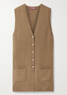 STAUD Jo Cotton-blend Vest