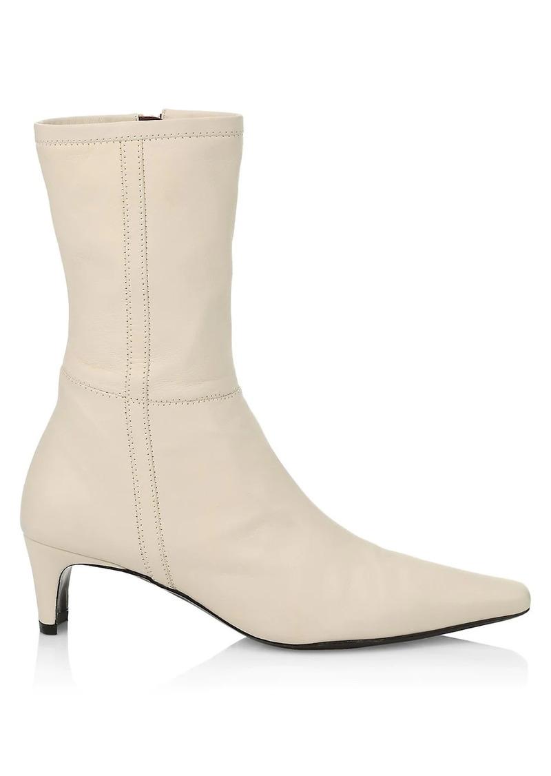STAUD Lars Square-Toe Leather Boots