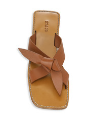 STAUD Lei Knotted Leather Slides