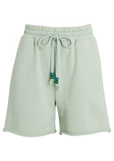 STAUD Logo Cotton Terry Sweat Shorts