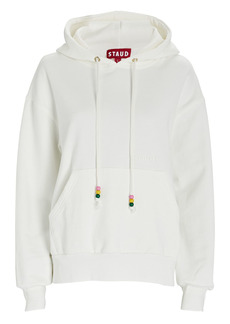 STAUD Logo Hooded Cotton Sweatshirt