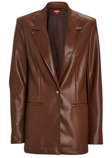 STAUD Madden Vegan Leather Blazer