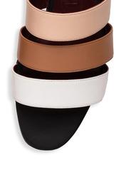 STAUD Mona Colorblock Leather Slides
