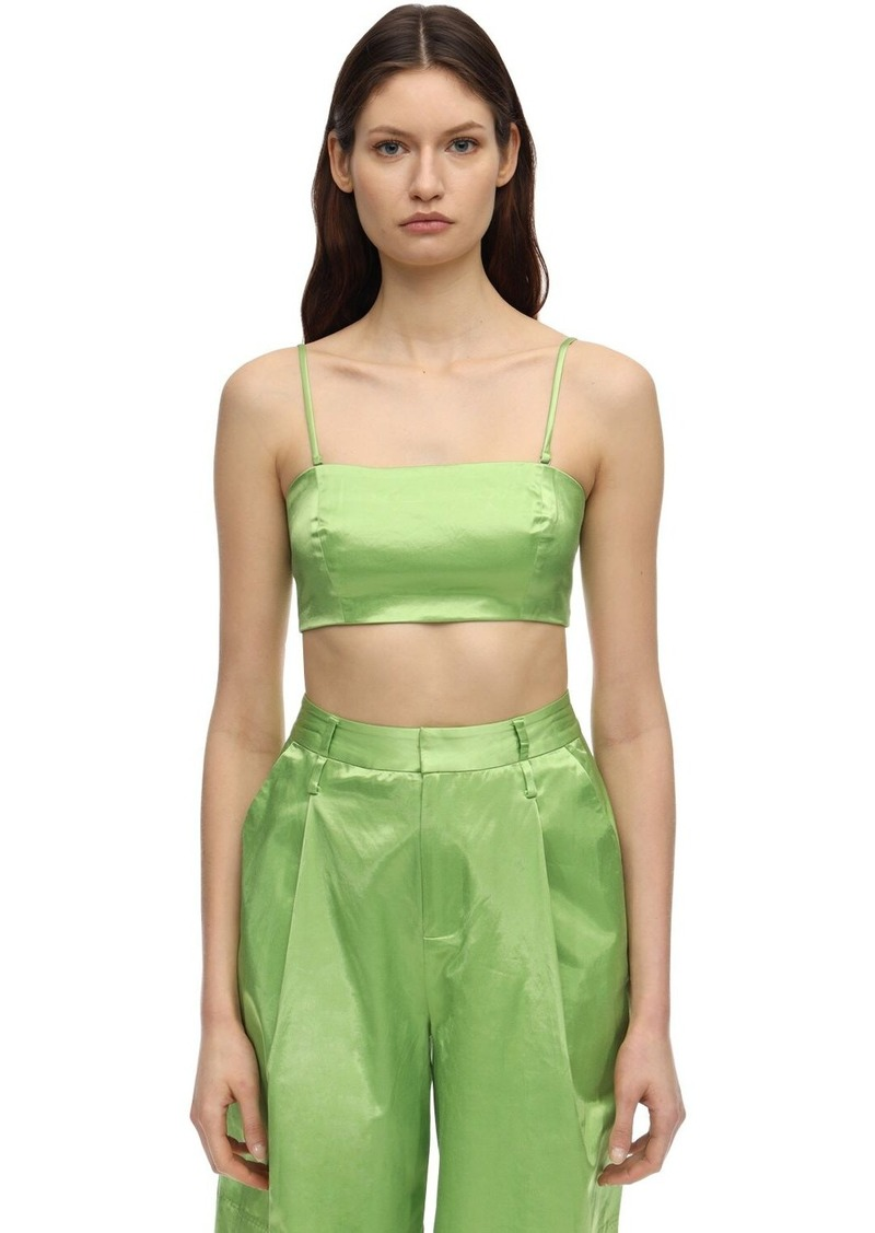 STAUD Satin Crop Top