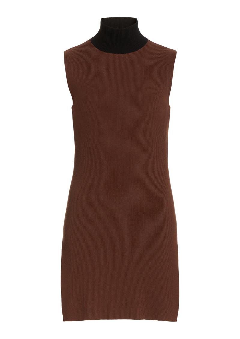 Staud - Women's Apres Ribbed-Knit Tunic - Brown - Moda Operandi