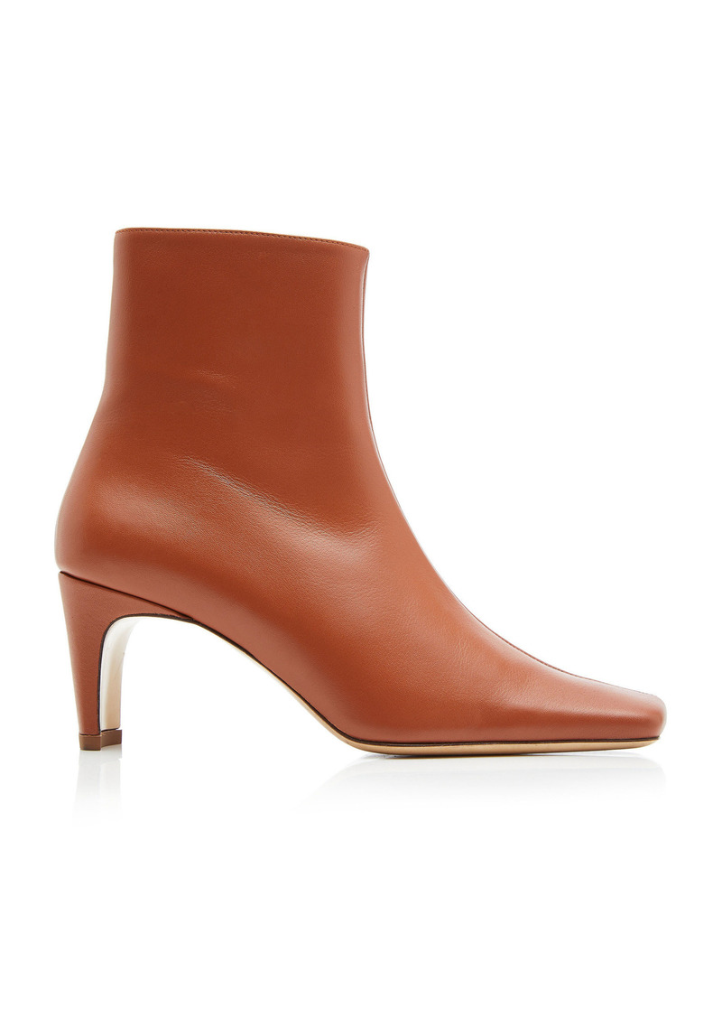 Staud - Women's Eva Ankle Boots  - Brown/burgundy - Moda Operandi