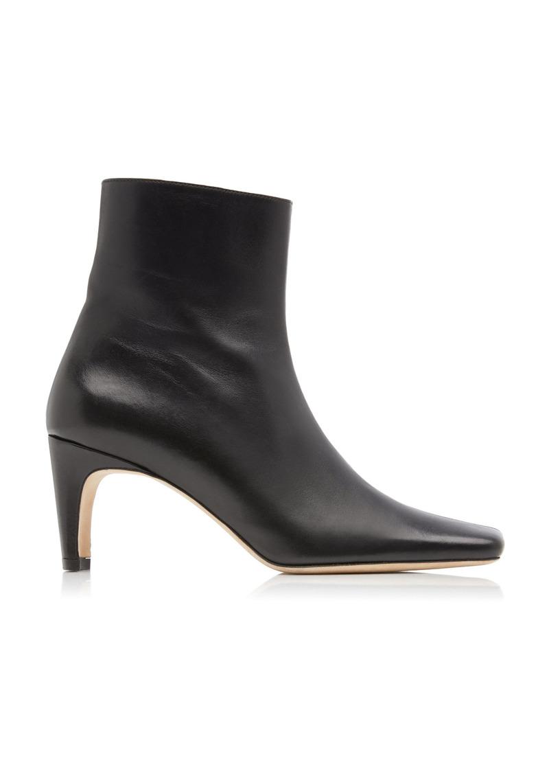 Staud - Women's Eva Leather Ankle Boots - Black - Moda Operandi