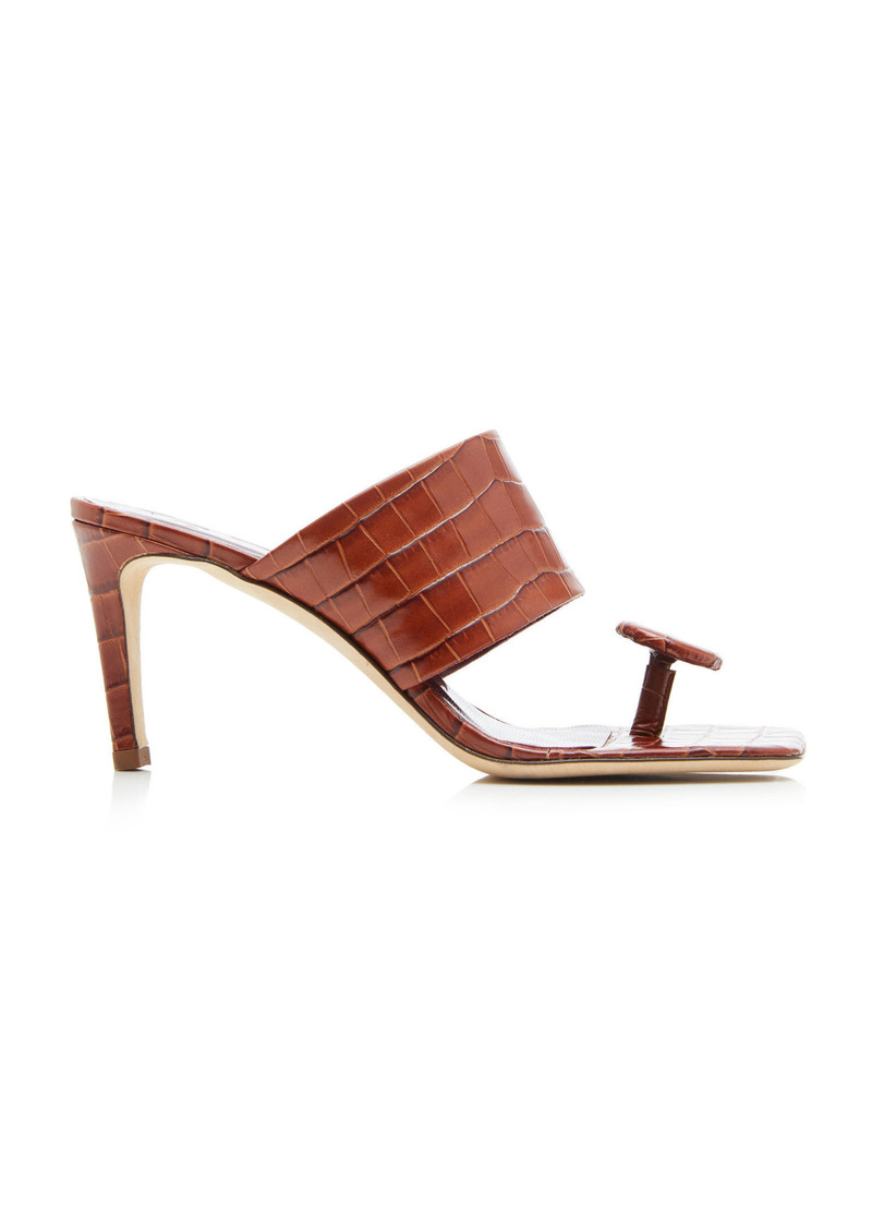 Staud - Women's Luna Sandals - Brown - Moda Operandi