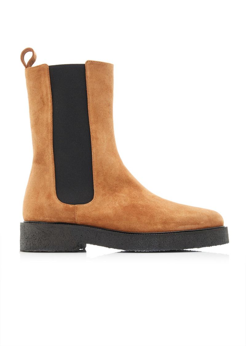 Staud - Women's Palamino Suede Chelsea Boots - Brown - Moda Operandi