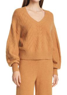STAUD Alberta Pointelle Sweater