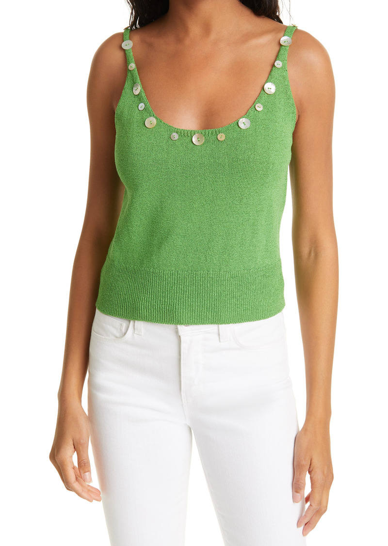 STAUD Ares Button Sweater Tank