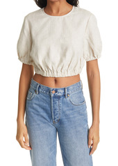 STAUD Athena Linen Crop Top