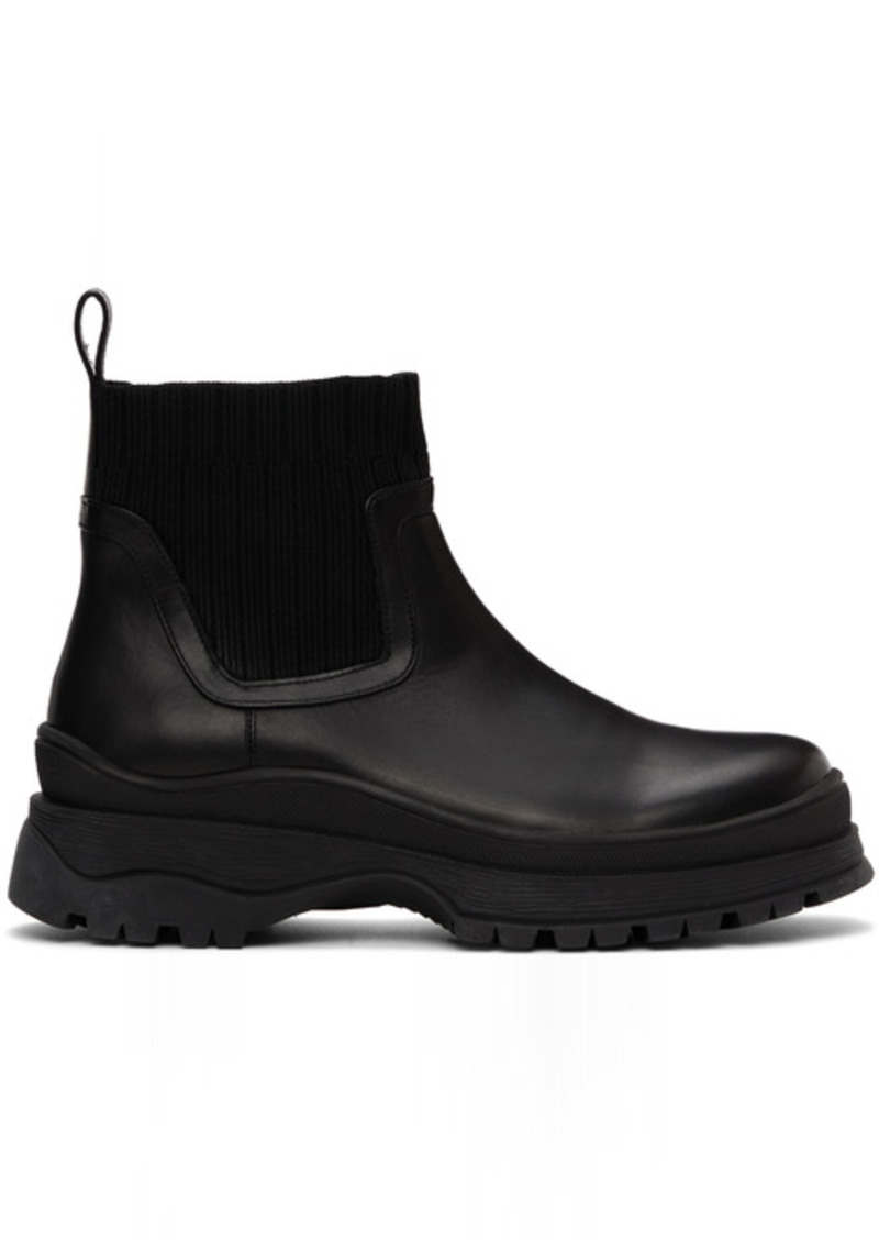 Staud Black Bow Boots