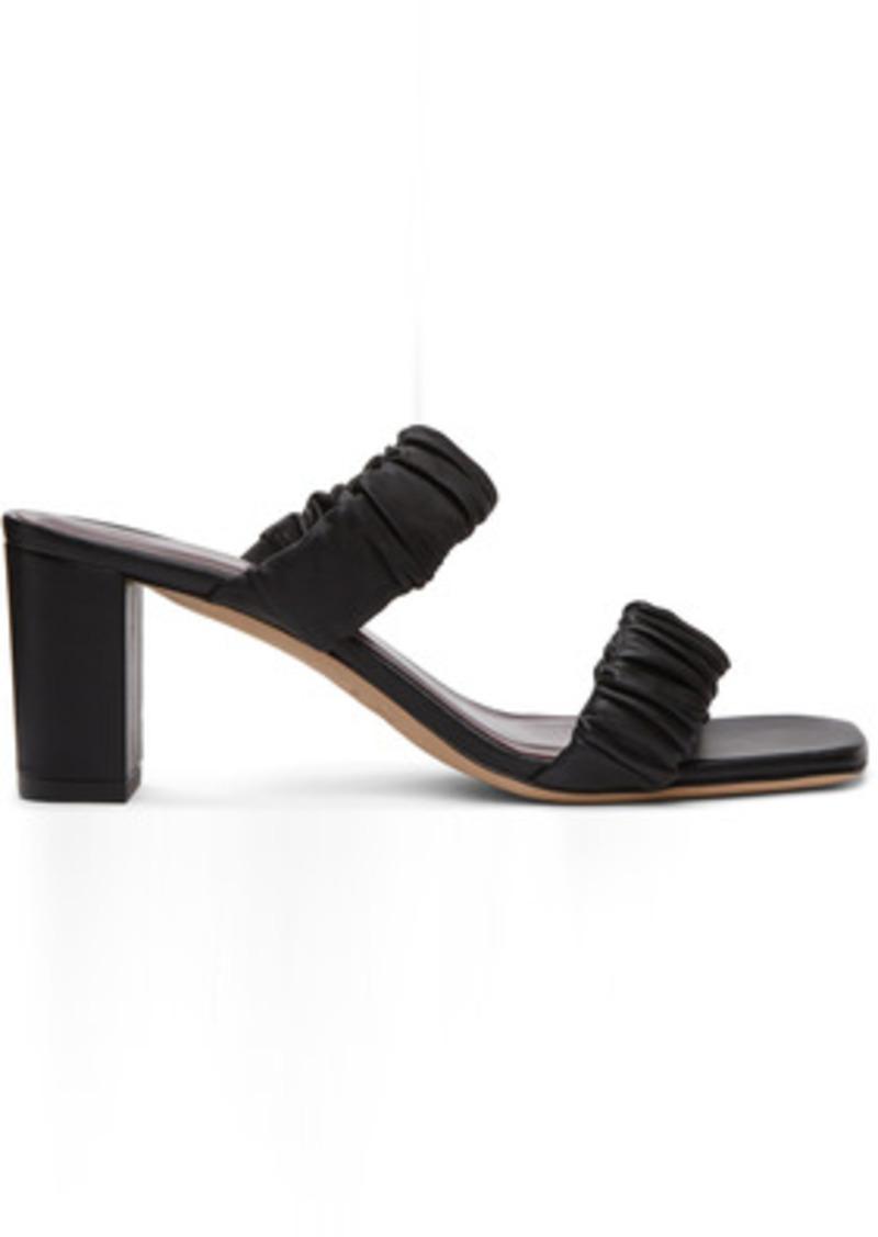 Staud Black Frankie Ruched Heeled Sandals