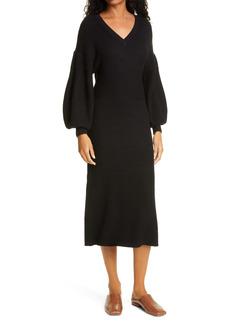 STAUD Carnation Midi Sweater Dress