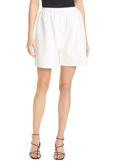 STAUD Clark Faux Leather Shorts