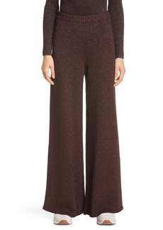 STAUD Daisy Shimmer Knit Wide Leg Pants
