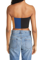 STAUD Dakota Colorblock Tube Top