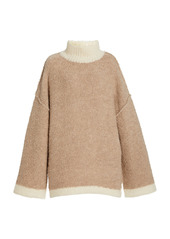 Staud Dylan Bouclè-Knit Oversized Sweater
