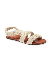 STAUD Ellie Ruched Strappy Sandal (Women)