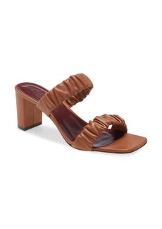 STAUD Frankie Ruched Slide Sandal (Women)