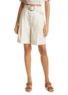 STAUD Helios Linen Walking Shorts