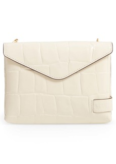 STAUD Holly Convertible Croc Embossed Leather Bag