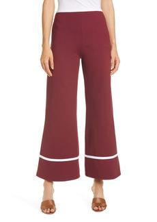 STAUD Julian Stripe Cuff Crop Wide Leg Pants