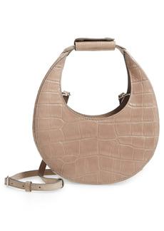 STAUD Leather Mini Moon Bag