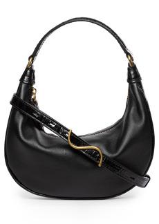 STAUD Mini Sasha Leather Shoulder Bag
