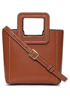 Staud Mini Shirley Leather Satchel - Brown