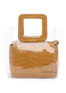 STAUD Mini Shirley Transparent Handbag